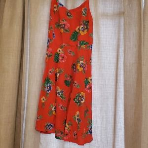 Flower Dress.  Nice Material . Worn Once